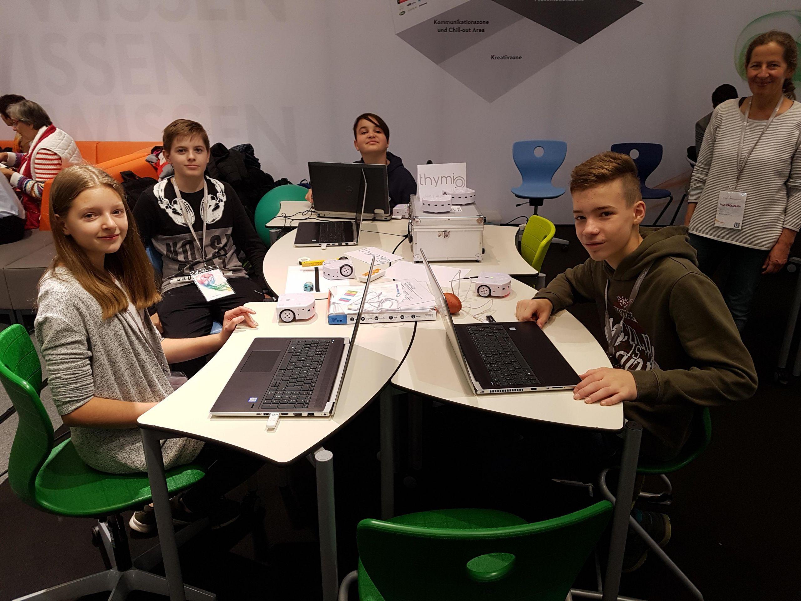 Workshopgestaltung der Robotikgruppe bei der Interpädagogica 2018