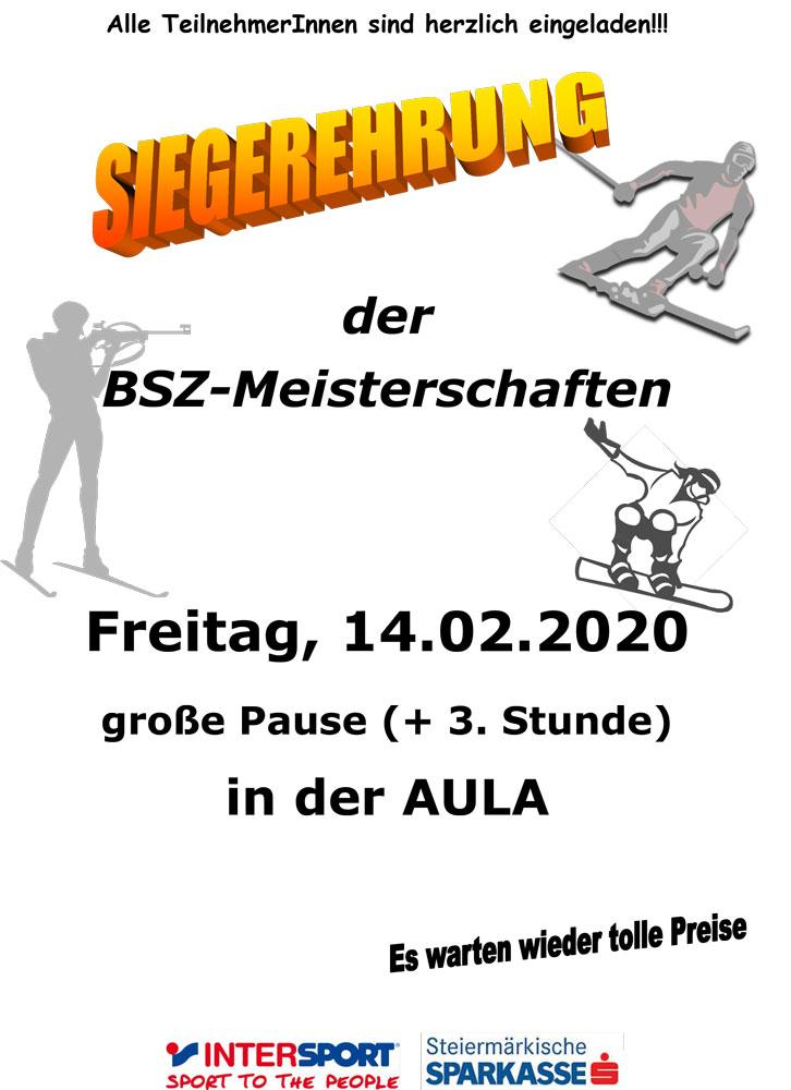 Siegerehrung der BSZ-Meisterschaften